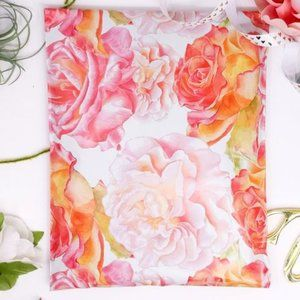 20 pieces 10x13 watercolor blossoms design